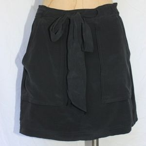 Madewell Tie Waist Mini Skirt